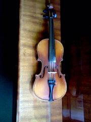 скрипка старинная Чешская