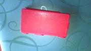 Кожаный чехол книга для Sony Xperia SP красный (новый)